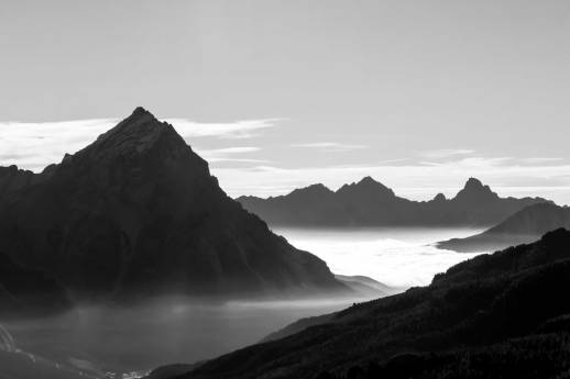 antelao and cadore with fog