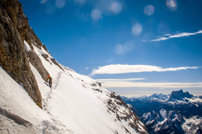 On the way down from the summit of Croda Rossa