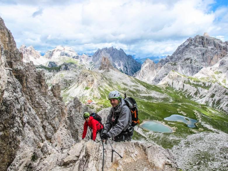 via ferrata on monte paterno dolomiti di sesto lavaredo guida alpina