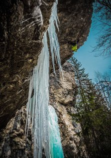dry tooling in san marco ice climbing