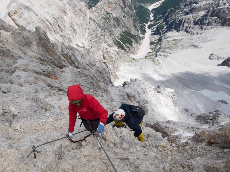 via ferrata marino bianchi on cristallo guide alpine cortina