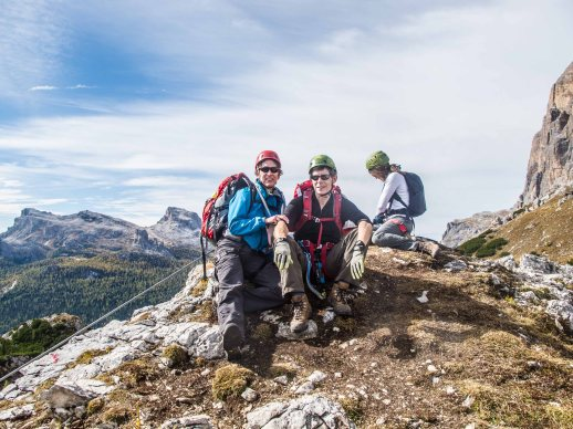 "Via ferrata ""Ra Pegna"" Cortina mountain guides dolomites"