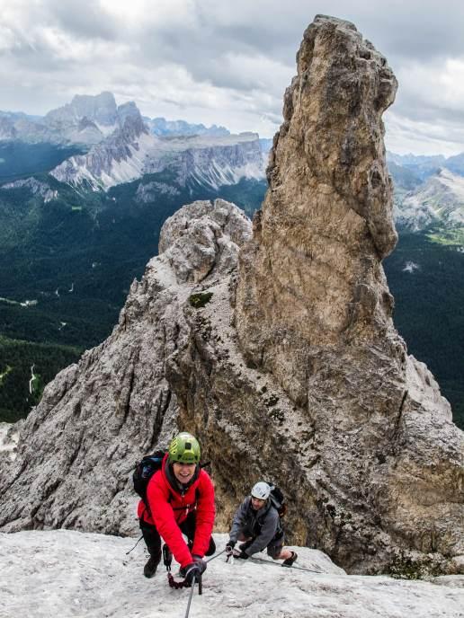 via ferrata on tofana di mezzo guide alpine