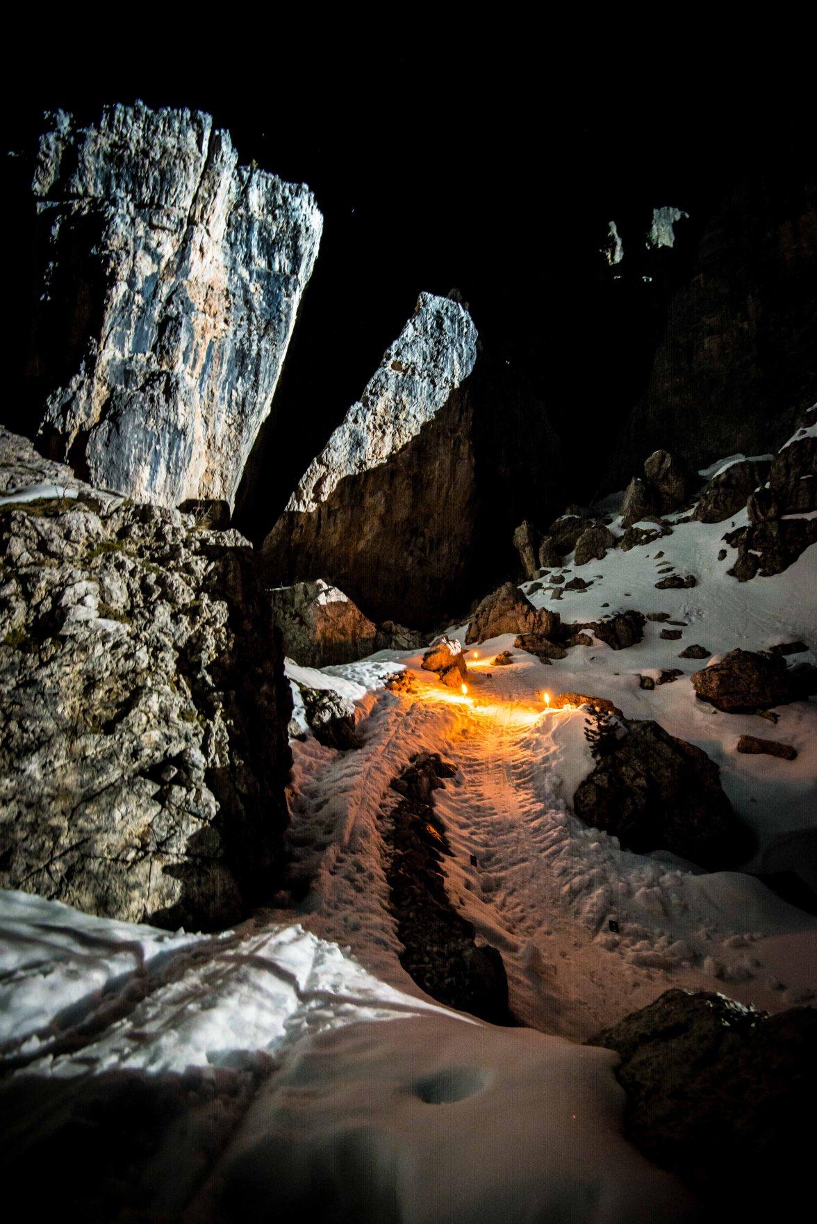 Gara notturna scialpinismo tra le 5 torri 2016