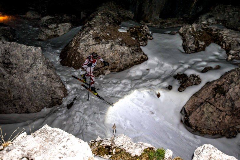 Scialpinismo in notturna, Trofeo Scoiattoli 2017, 5 Torri, scialpinismo tra le Torr