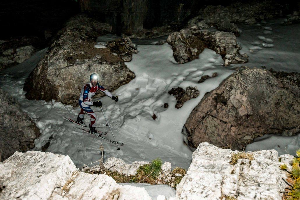 Scialpinismo in notturna alle 5 Torri, trofeo di scialpinismo Scoiattoli 2017 Cortina