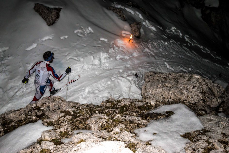 Scialpinismo in notturna alle 5 Torri, trofeo Scoiattoli, Cortina