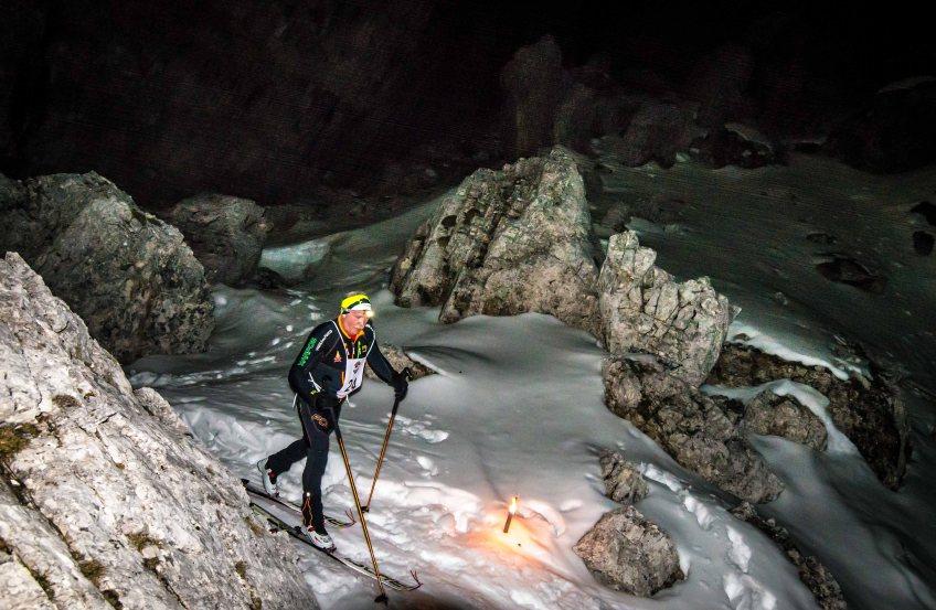Gara Skialp Scoiattoli in notturna, 2017, 5 Torri, Cortina