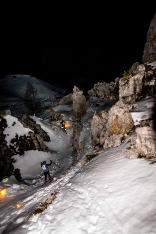 Trofeo Scoiattoli scialpinismo in notturna alle 5 Torri