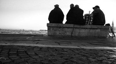Tourists in Venice, my public island