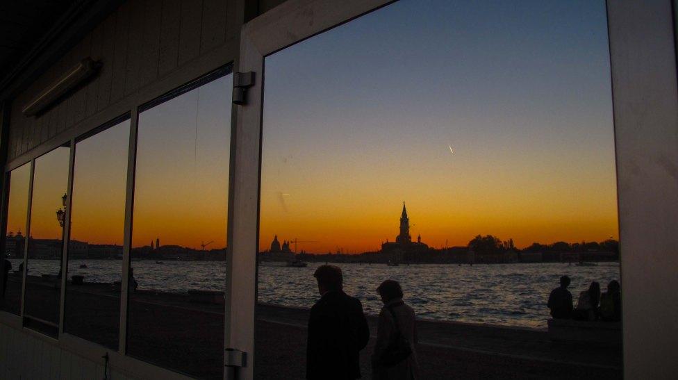 Tramonti riflessi a Venezia.