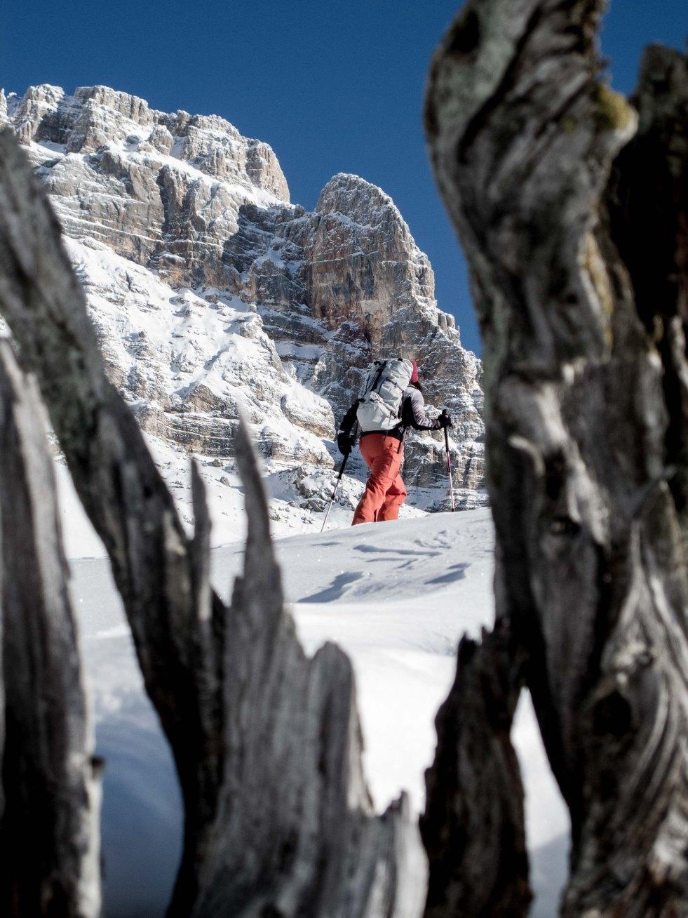 Skitouring around forcella Lerosa