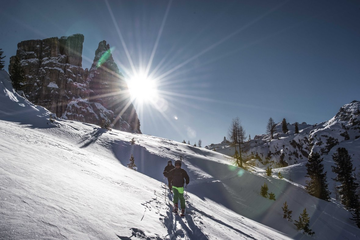 Looking for powder in 5 Torri, Dolomites