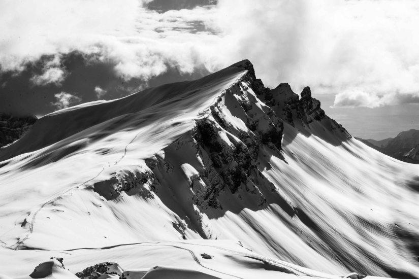 Scialpinisti a Mondeval
