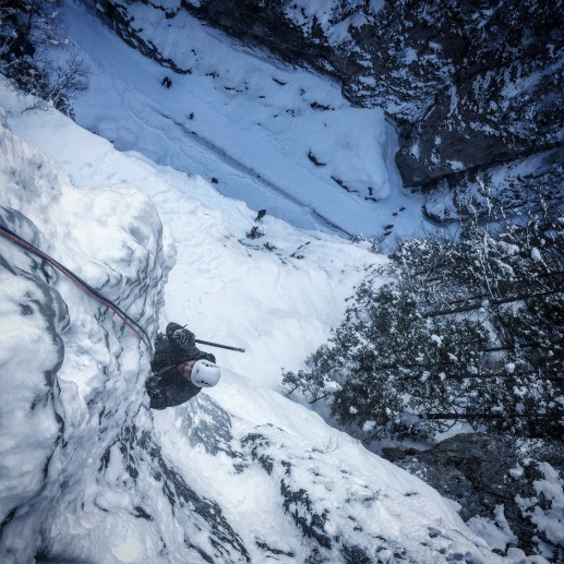 Iceclimbing on Excalibur in Sottoguda Mountain Guide