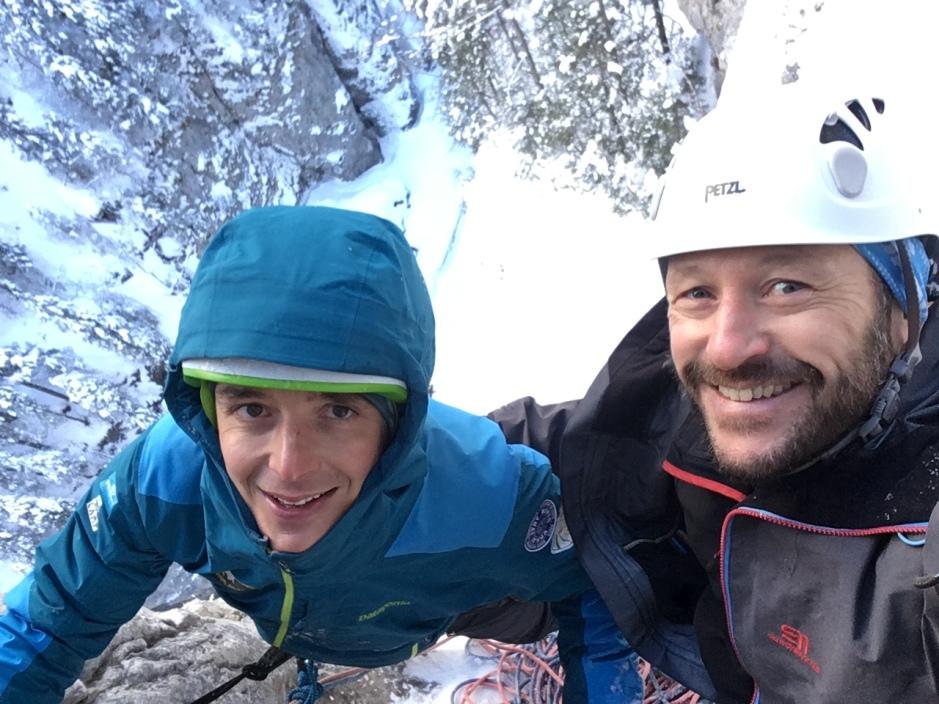 Iceclimbing on La cascata del sole.